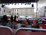 Senigallia: Piazza Roma sotto la pioggia per Caterpillar