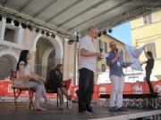 Renzo Ceresa e Marco Ardemagni sul palco di Piazza Roma a Senigallia