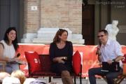 Monica Maggioni con Natascha Lusenti e Filippo Solibello