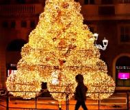 21/12/2018 - Di passaggio davanti all'albero di Natale