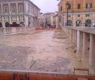 Maltempo: il fiume Misa in piena a Senigallia