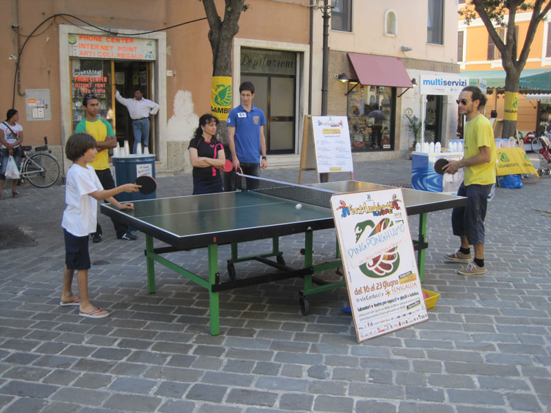 Accese sfide a ping-pong
