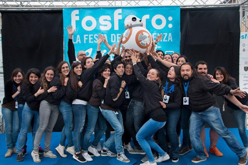 Lo staff di Fosforo 2016 e BB8