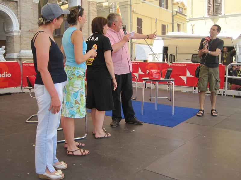 Le partecipanti al Premio Mozzarella