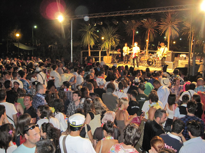 Il pubblico del Big Hawaiian Party