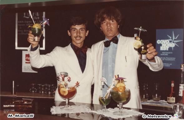Alberto e Massimo Mariselli al Life Club di Marzocca di Senigallia 1978