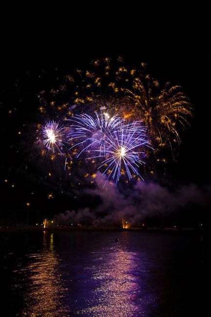 Fuochi d'artificio visti dalla Rotonda a Mare