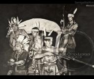 Giovani in maschera a Villa Sorriso a Senigallia - Leopoldi 249