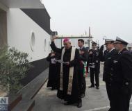 La benedizione della caserma della Guardia Costiera