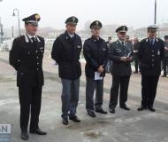 Rappresentanti delle forze dell'ordine all'inaugurazione della caserma