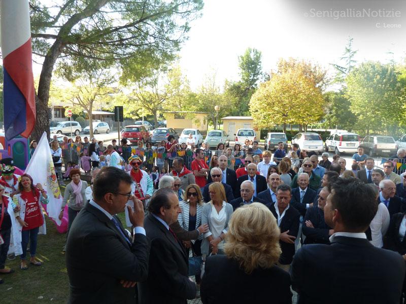 Tante persone all'inaugurazione della San Gaudenzio di Senigallia