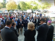 Autorità civili e religiose all\'inaugurazione della S.Gaudenzio