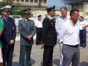 """Autorità civili e militari all\'intitolazione della """"Banchina Guardia Costiera"""""""