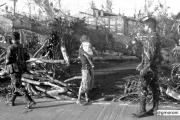La zona devastata dal tifone e sorvegliata dai militari
