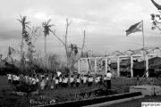 Lezioni scolastiche nelle Filippine devastate dal tifone