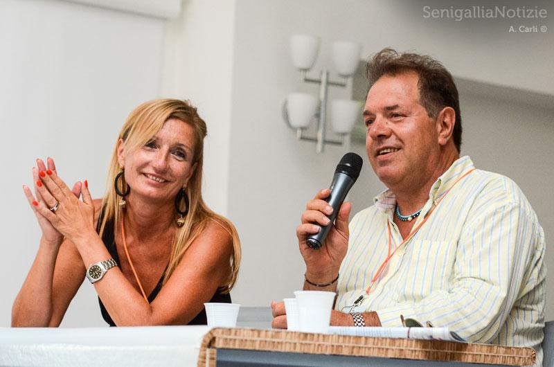 Manuela Winter e Massimo Mariselli sul palco