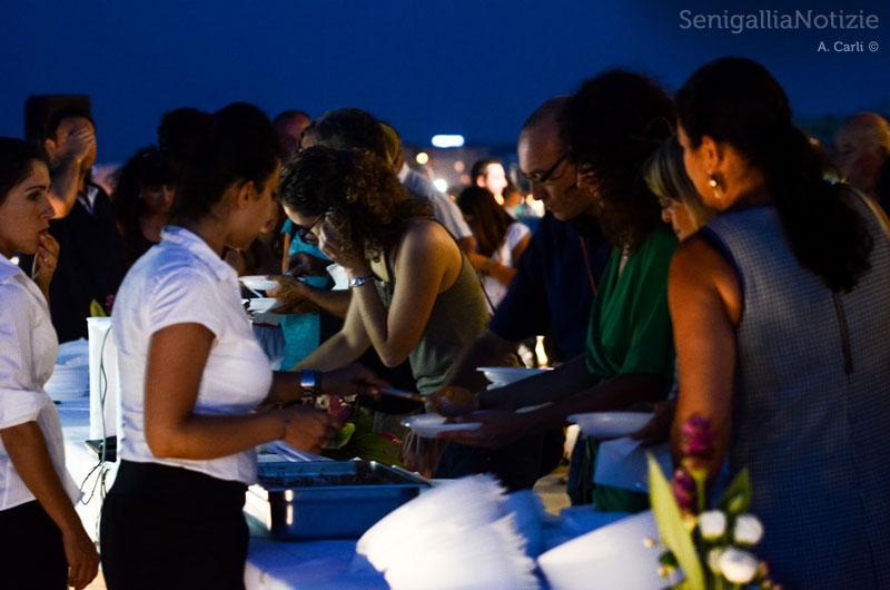 Il buffet offerto agli ospiti di Legg10nline