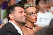 Il Sindaco Maurizio Mangialardi e la signora Valeria Satolli