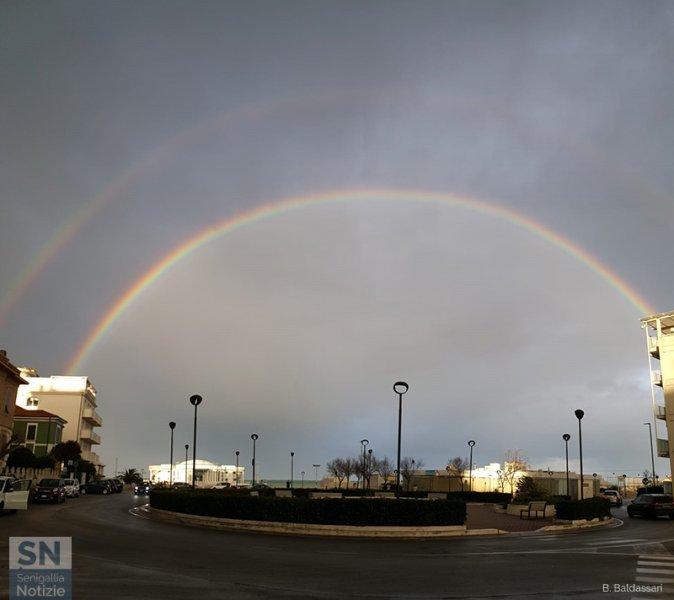 01/03/2020 - Doppio arcobaleno sulla Rotonda
