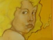 Volto femminile nei dipinti di Geos