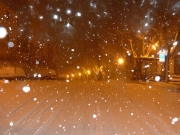 Neve a Corinaldo la sera del 2 febbraio