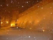 Le mura di Corinaldo la sera del 2 febbraio