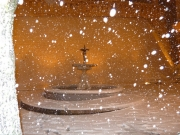 Fontana di Corinaldo durante la nevicata
