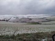 Leggera coltre di neve a Sant'Angelo di Senigallia