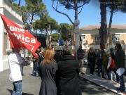 Protesta dei sindacati della sanità