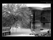 La Rocca Roveresca sotto la neve - Leopoldi-1935