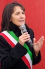 il Sindaco Luana Angeloni alla cerimonia d'inaugurazione del porto di mare di Senigallia