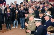 Le forze dell'ordine, autorità militari e civili e tanta gente all'inaugurazione del porto di Senigallia