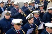La banda musicale Città di Senigallia mentre suona l'Inno d'Italia