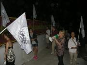Demolizione cavalcavia, la protesta del Comitato Versus Complanare