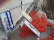 Resti della demolizione del cavalcavia di via Cupetta