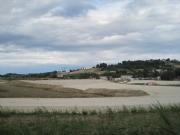 Dalla Statale Arceviese, l'area del nuovo casello A-14