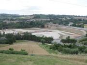 Da strada della Capanna Alta, l'area del nuovo casello A-14