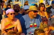 Il pubblico in spiaggia