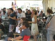 Il gazebo di Radio2 con gli ospiti del CaterRaduno