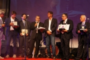 Sindaco di Senigallia Maurizio Mangialardi e i cinque sindaci premiati