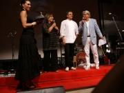 Premiazione di Mauro Uliassi, con Vladimiro Riga, Patrizia Casagrande e Alessandra Frulla