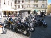 Harley Davidson in Piazza Roma