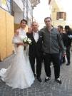 Gli sposi e amici