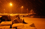 Neve al porto di Senigallia - Foto di Andrea Piangerelli