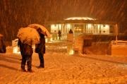 Rotonda sotto la neve - Foto di Andrea Piangerelli