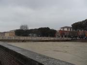 Il Misa in piena da via Portici Ercolani