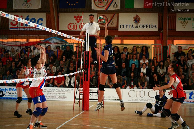 Fasi di gioco di gara 2 della finale Offida-Senigallia