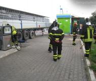 Vigili del Fuoco all\'impianto a metano di via Mattei