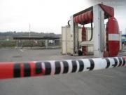 L\'impianto per il rifornimento di metano per auto in via Mattei a Senigallia