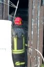 I Vigili del Fuoco al lavoro sul luogo dello scoppio